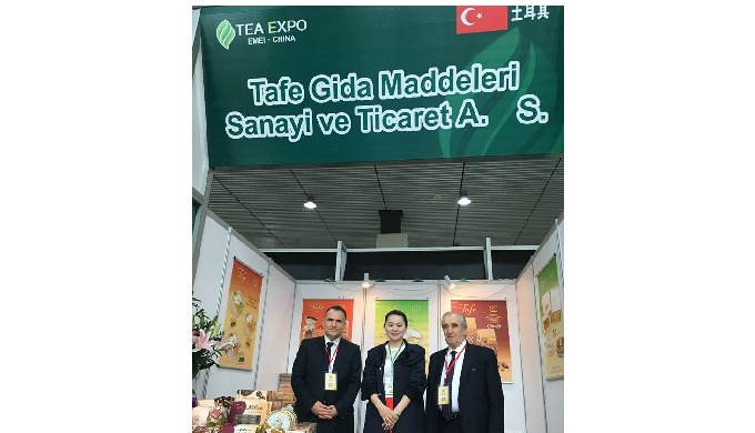Tea Expo in Emei Shan City in Chengdu Province in Sichuan Region in China in April 2016