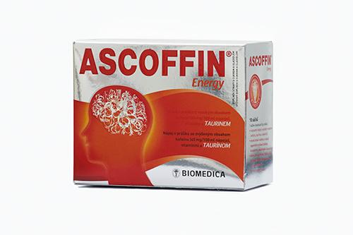 ASCOFFIN ENERGY energetický nápoj v prášku Doplněk stravy s cukrem a sladidlem Rozpustný nešumivý AS...