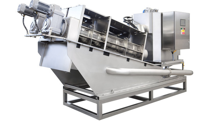 Dewatering screw press