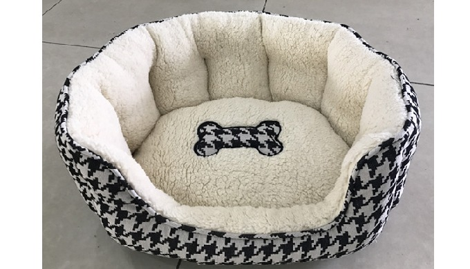Deluxe woolen spinning snuggle pet bed Item No.WY180314A/C Size: L: 71x53x17.5cm; M: 58x45x17.5cm; S...