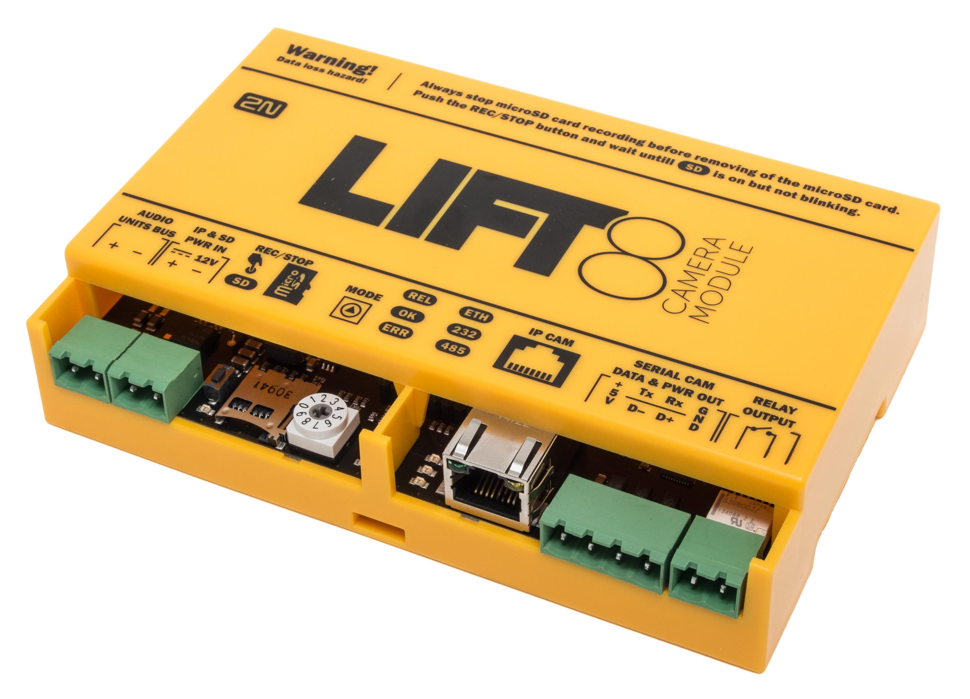 Spolehlivá prevence vandalismu2N® Lift8 Camera module je záznamové zařízení, které vám po propojení ...