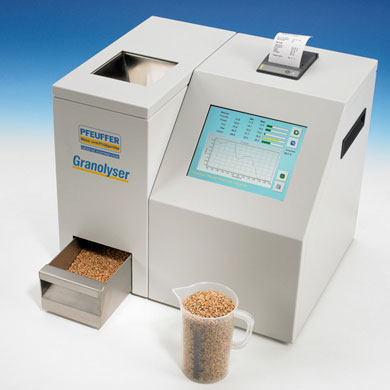 NIR analysis of grains Granolyser