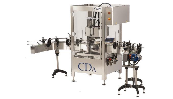 Conçue par CDA, la visseuse VS 1000 permet de boucher par vissage automatique tout type de bouchons ...