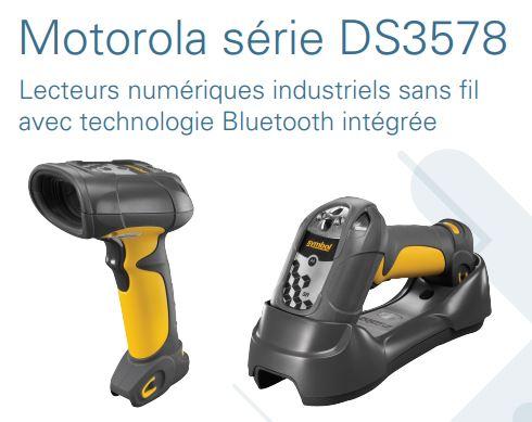 Le motorola série DS3508, lecteurs numériques robustes câblés, lecture des codes à barres 1D et 2D g...