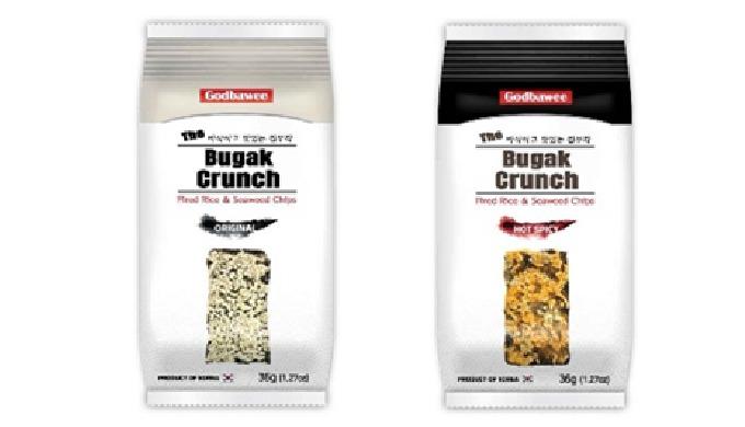 2-3) The Bugak Cruch Original Flavor Hot Spicy   seaweed snacks healthy