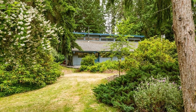 Exquisitely secluded yet comfortingly close to services, 4.5+ acres with 2 – 2 bdrm homes & huge bar...