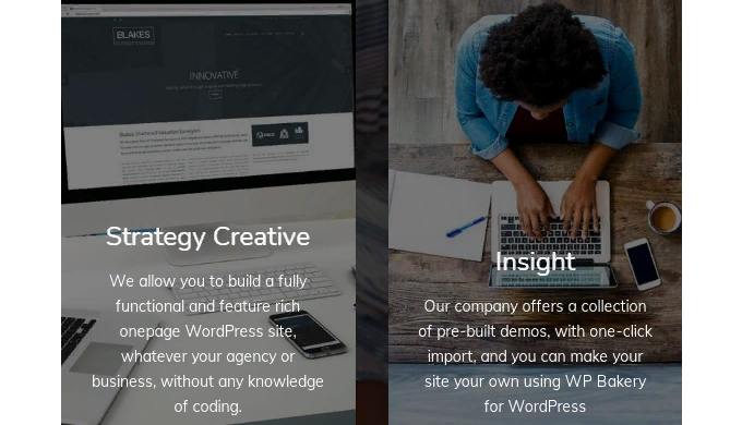 We allow you to build a fully functional and feature rich onepage WordPress site, whatever your agen...