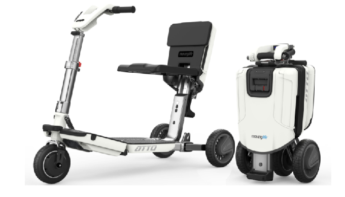 The ATTO Mobility Scooter is a lightweight folding mobility scooter that is ideal for travel by car,...