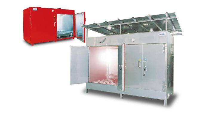 Industrieofen oder Kammerofen zur thermischen Behandlung von Produktionsgütern