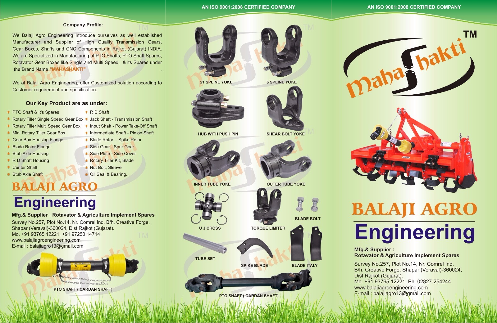 We Balaji Agro Engineering Mfg & Supplier of Rotavator, Thresher and Other Agriculture Implement PTO...
