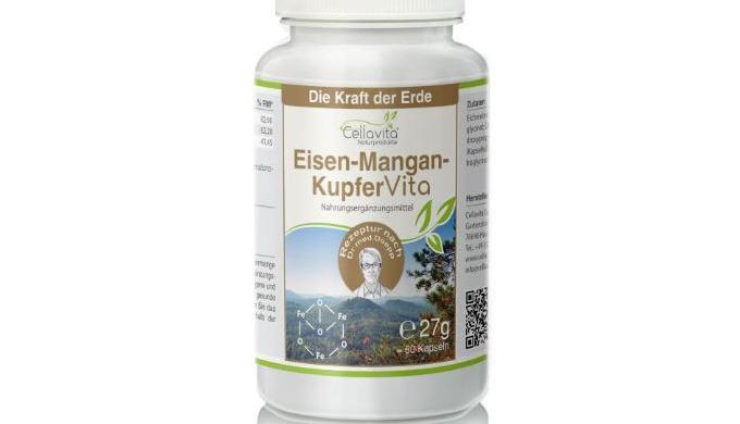 Eisen-Mangan-Kupfer Vita 60 Kapseln