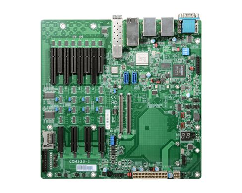 COM Express® R3.0, Pin-out Type 7 Supports Compact and Basic modules Multiple expansion: 8 PCIe x4 o...