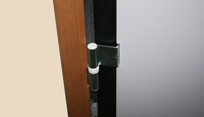 Huisseries pour portes maternelle : • Profil pour porte à chants droits • 3 paumelles universelles m...