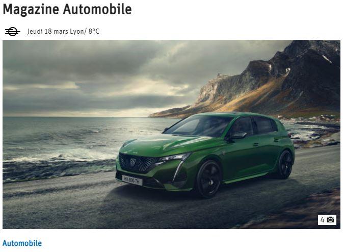 LE PROGRES, offre publicitaire pour magazine automobile