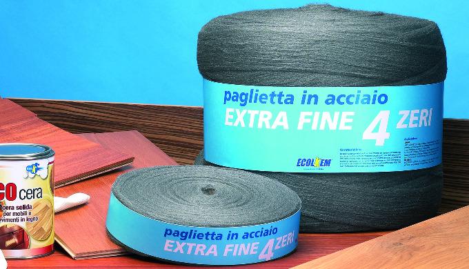 La paglietta acciaio extrafine 4 zeri è un prodotto per l'industria, l'artigiano e per l'uso domesti...