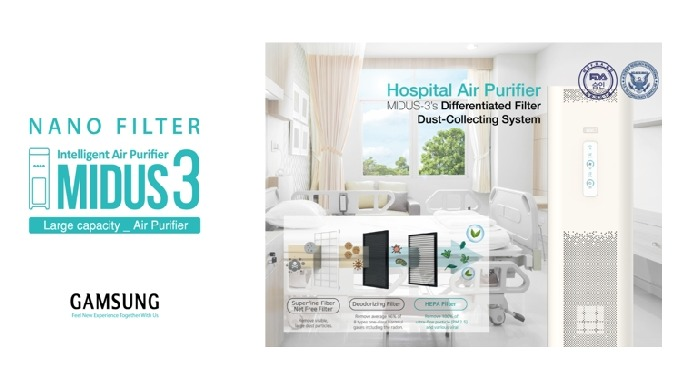 FDA-registered hospital air purifier for clean and clear~