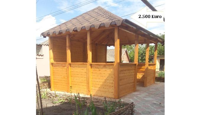 Mobiler din Lemn pentru Gradina și exterior, Foisor, Terasa, Teren pentru copii
