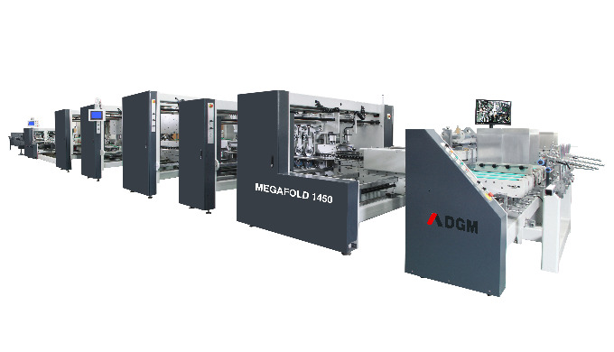 High speed automatic folder gluer MEGAFOLD 1450 – C Without pre-folding section suitable for straigh...
