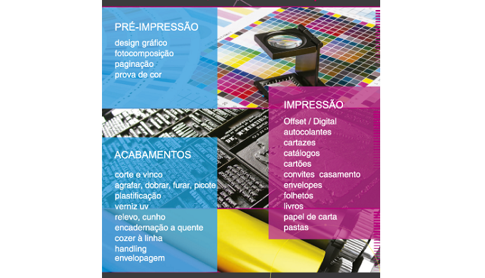 Serviços Impressão Offset e Digital