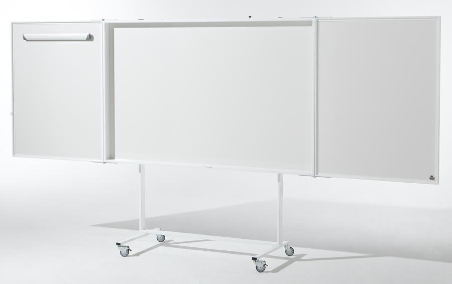 Weißwandtafel mit Projektionsfläche Flip-Chart, Magnettafel und Projektionswand in einem Hochwertige...