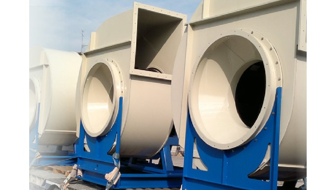 Corrosion resistant centrifugal fans