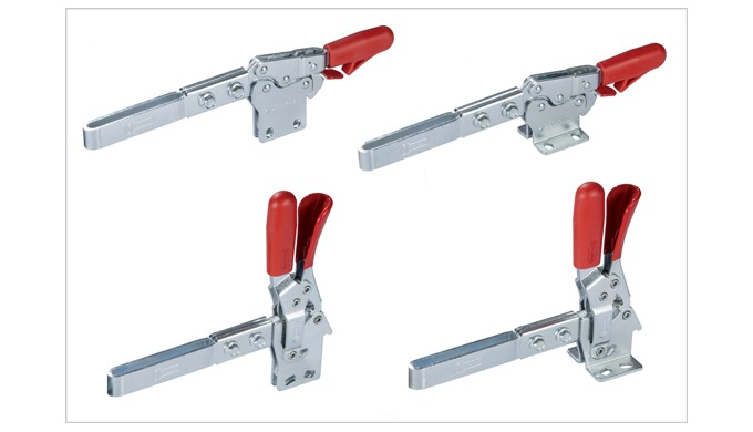 New toggle clamps with extended lever from Elesa solve the reach problem