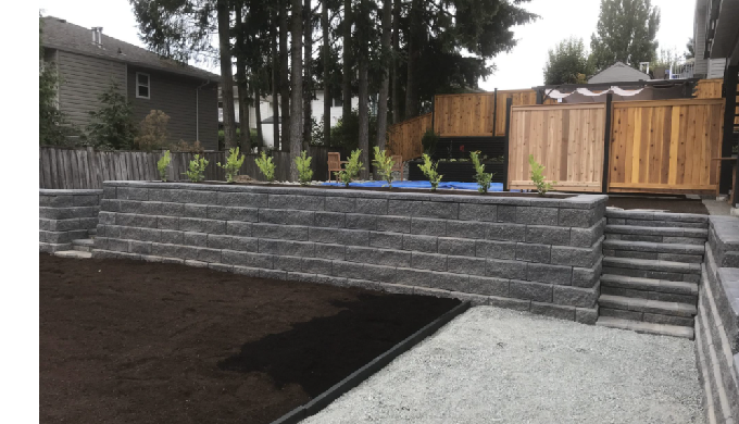 Installing a retaining wall is more than stacking a bunch of blocks together, a good retaining wall ...