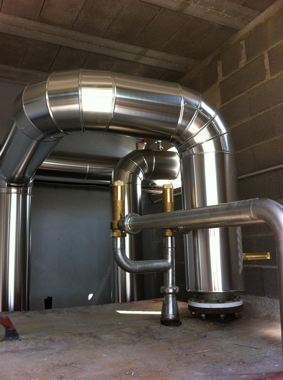 calorifuge réseau tuyauterie haute température