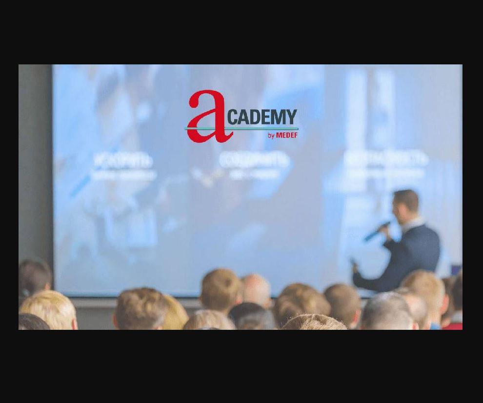 MEDEF met en place l'Academy by MEDEF, un dispositif de formation pour permettre à tous ceux qui déf...
