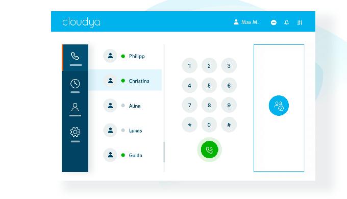 La solution de téléphonie d'entreprise Cloudya se résume en 4 points : simple, flexible, puissante e...