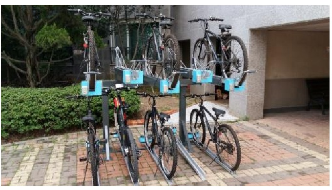Two Stairs Bicycle rack(Lock) l high quailty bicycle rack