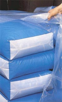 The range of products includes: shrink film (tubing and flat sheet) non fusion shrink film R-Nostipa...