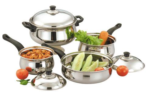 Rajwadi Cookware Set with Bakelite Handle - 7 & 12 Pcs