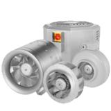 Sort udvalg af ventilatorer til byggeriet og industrien. Energibesparende løsninger med mange regule...