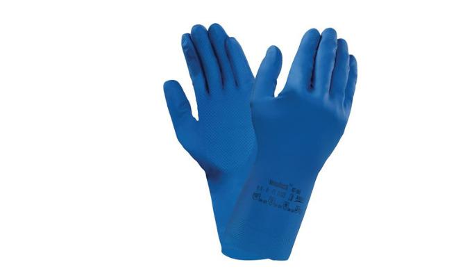 Guante alimentario látex azul ANSELL Versatouch 87-195