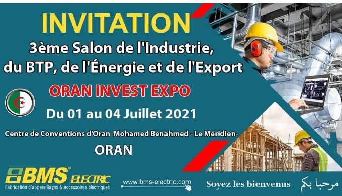 Participation de BMS ELECTRIC au 3éme salon oran-invest-expo 2021