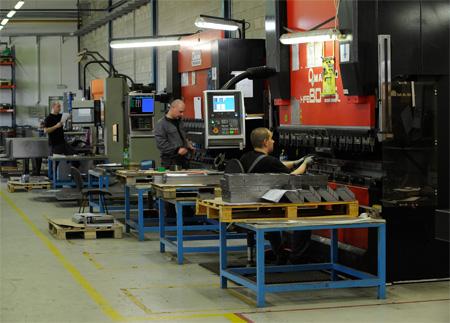 CNC tváření plechů, laserové řezání, svařování