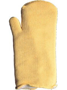 Protective mittens and gloves against burns