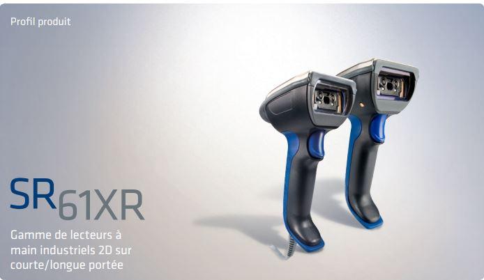 Le SR61XR Gamme de lecteurs à main industriels 2D sur courte/longue portée est le premier lecteur à ...