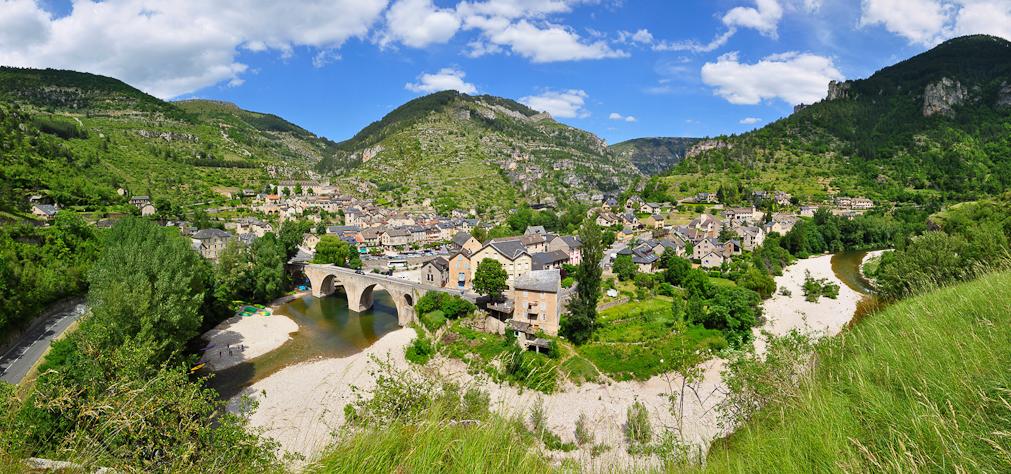 Village dans les Gorges du Tarn