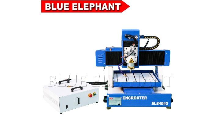 Elefante azul acrílico mini publicidade router cnc para fabricante de portas de madeira