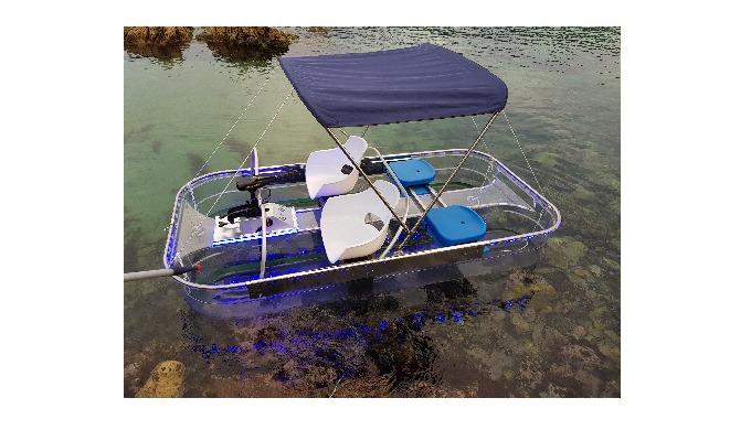 Clear 12V Electric motor Boat (HN-205)