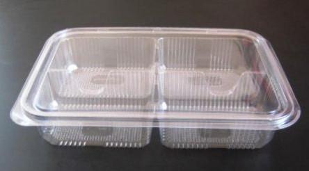Caserole alimentare din plastic PET (4 secţii)