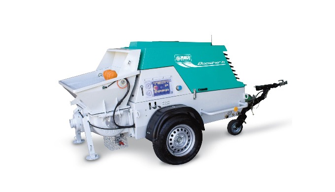 IMER Concrete Pump Booster15 (made in Italy) 2-cylinder piston pump, hydraulic driven. Diesel engine...