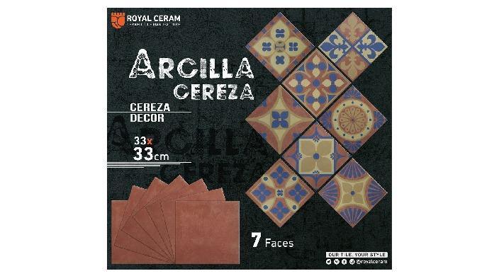 Size: 33x33cm Color: Cereza / Decor Type: Floor tiles