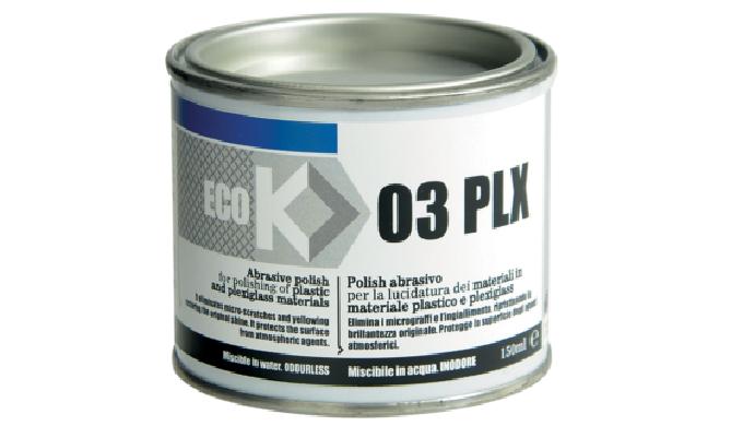 POLISH ABRASIVO PER LA LUCIDATURA DELLE SUPERFICI IN MATERIALE PLASTICO E PLEXIGLASS ECO K03 PLX è u...