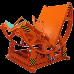 Hydraulické a elektromotorické sklopné stoly pro otáčení břemen