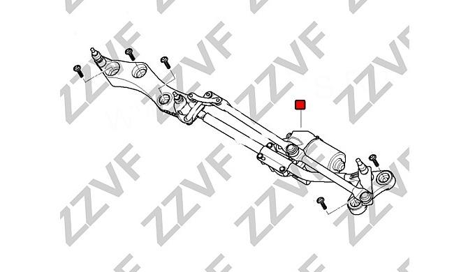 Logu tīrītāja mehānisms, bez elektromotora BMW (5' E60/E60 LCI, 5' E61/E61LCl, 6' E63/E63 LCI, 6' E64)