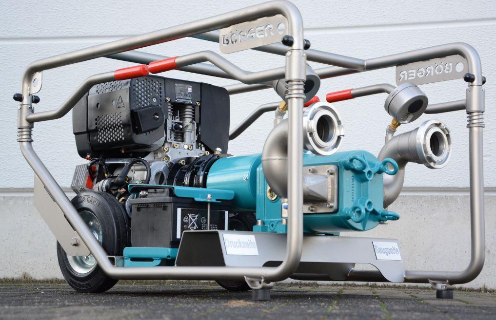 Pompes d'intervention Börger sont transportables, compactes, et peut être installées dans le coffre ...