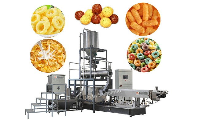 Corn Snack Machine use extruding, drying processes to produce nice taste puff snacks. It has feature...